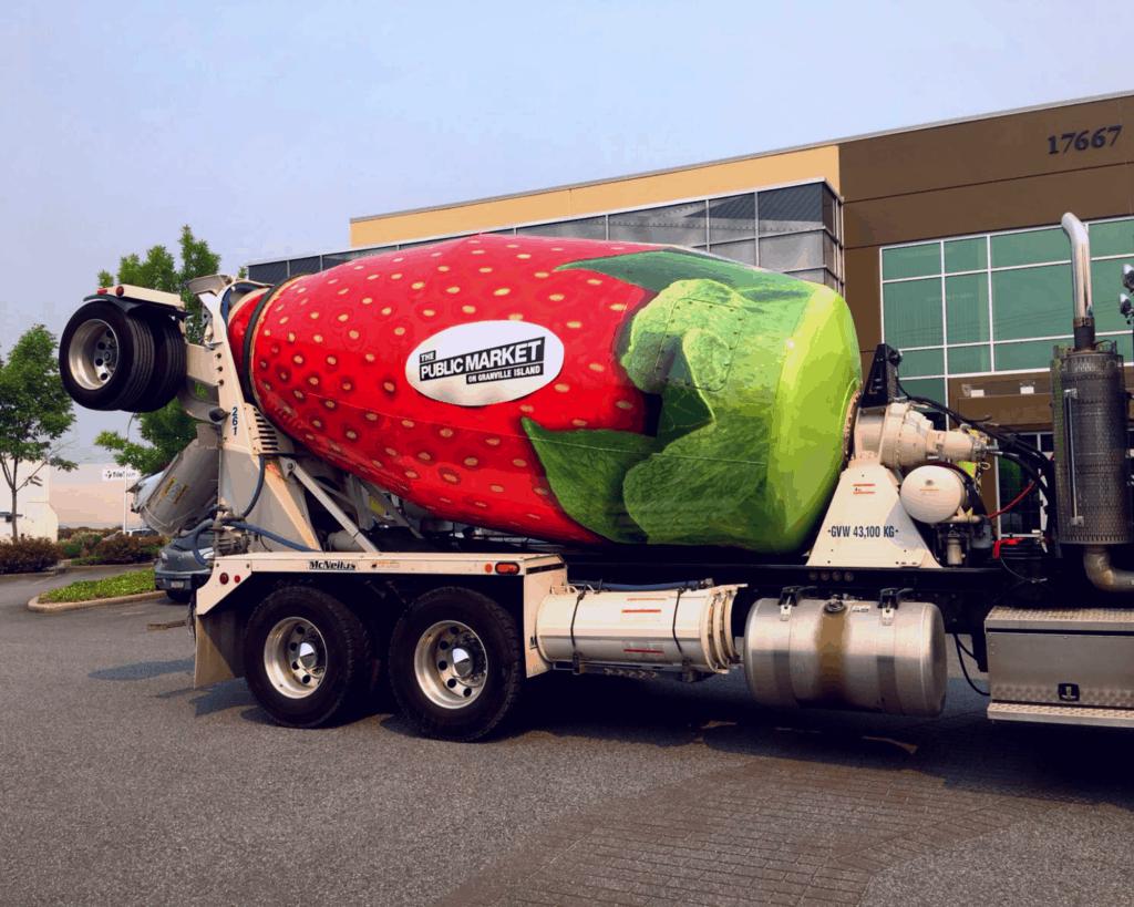 Cement truck drum wrap