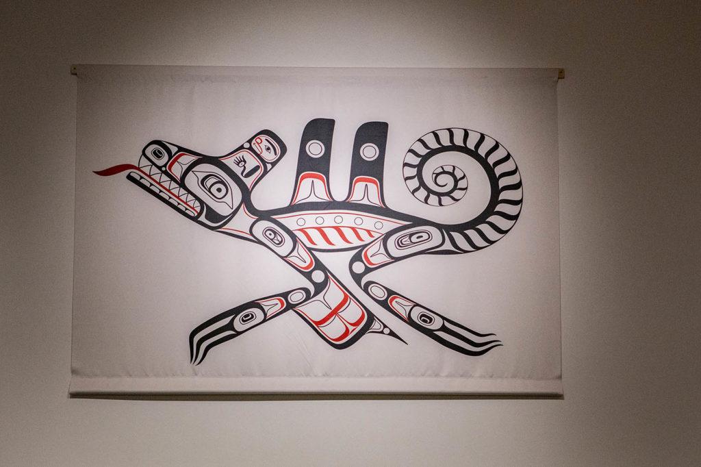 Don't Spill The Duck Grease (2018)  by Haida artist Kwiaahwah Jones